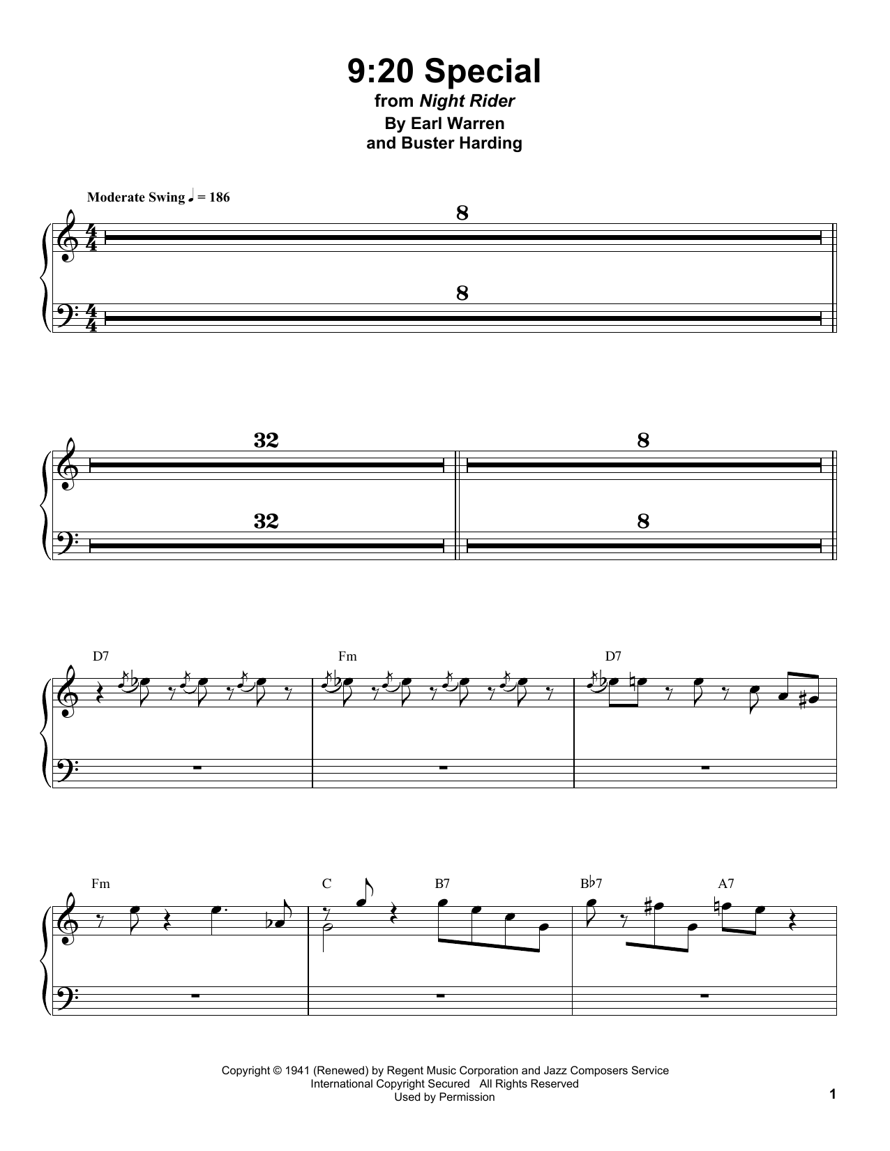 9:20 Special Sheet Music