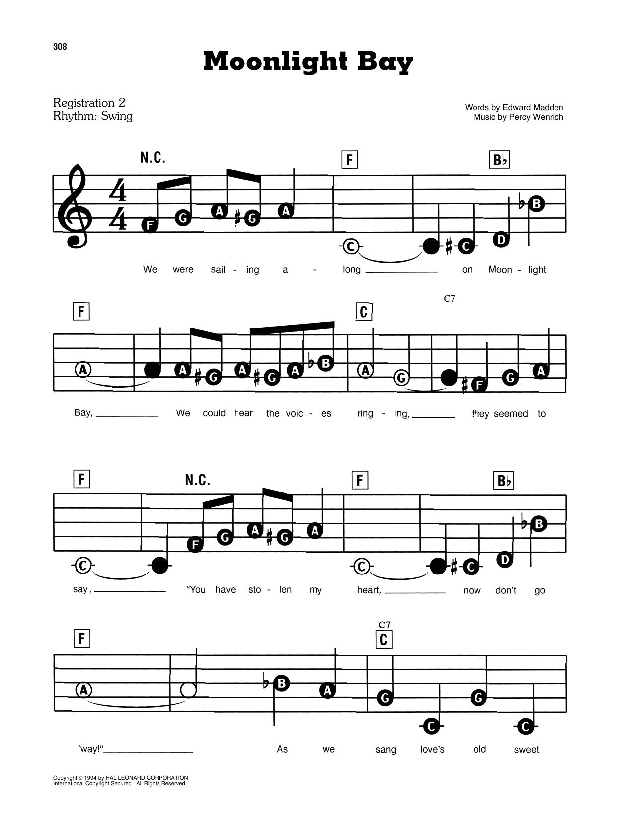 Moonlight Bay (E-Z Play Today)