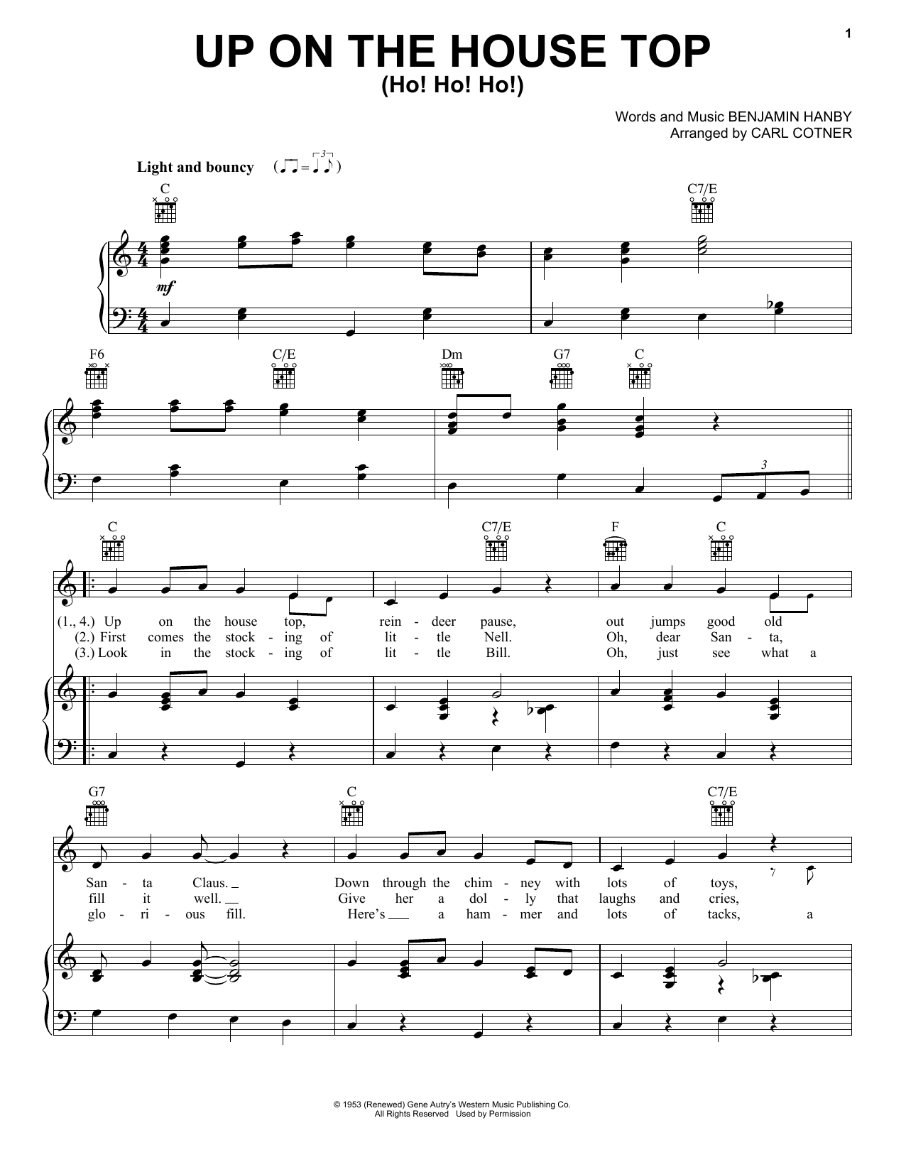 Up On The House Top (Ho! Ho! Ho!) Sheet Music