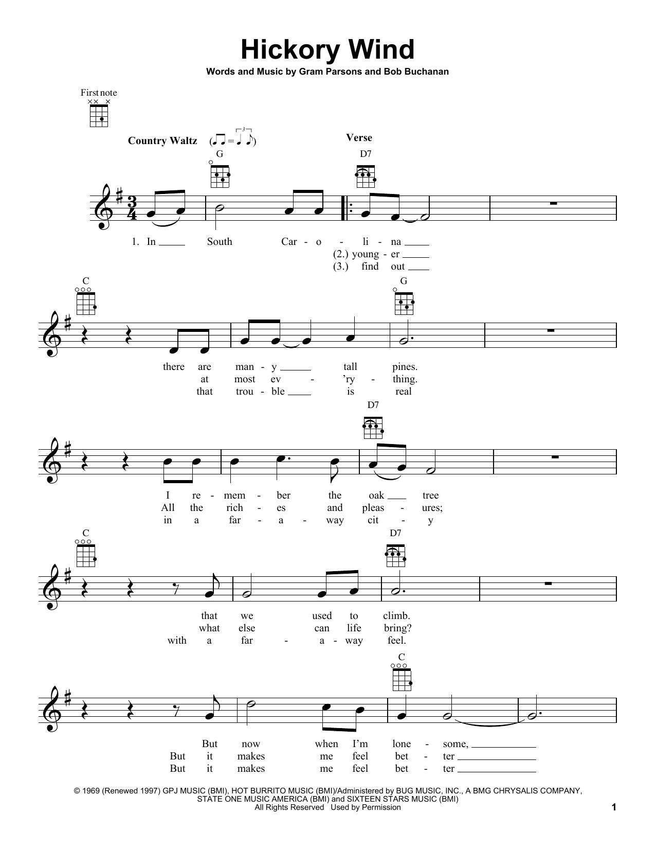Hickory Wind Sheet Music