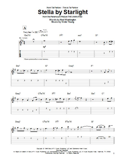 Stella By Starlight (Guitar Tab)