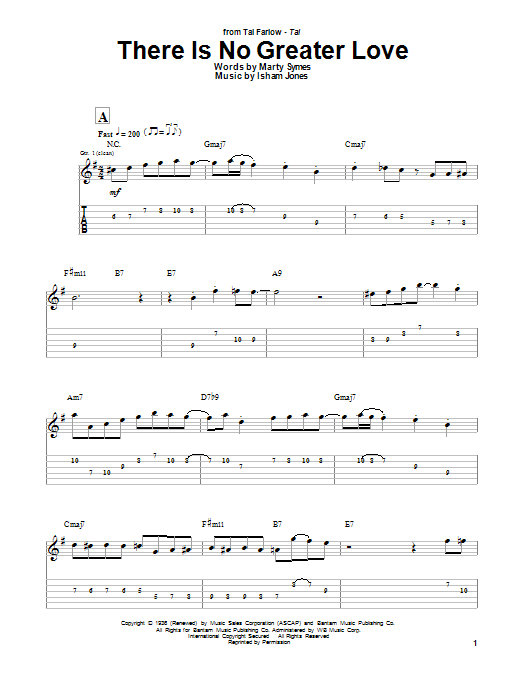 There Is No Greater Love Sheet Music