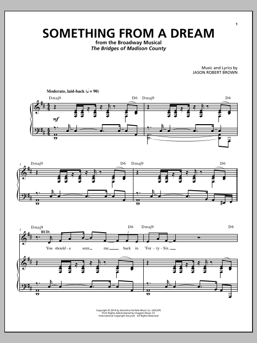 Something From A Dream (from 'The Bridges of Madison County') Sheet Music