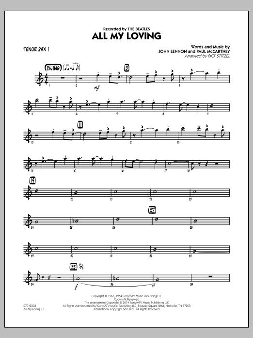 All My Loving - Tenor Sax 1 (Jazz Ensemble)