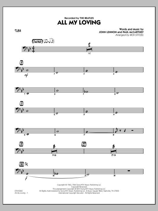 All My Loving - Tuba (Jazz Ensemble)