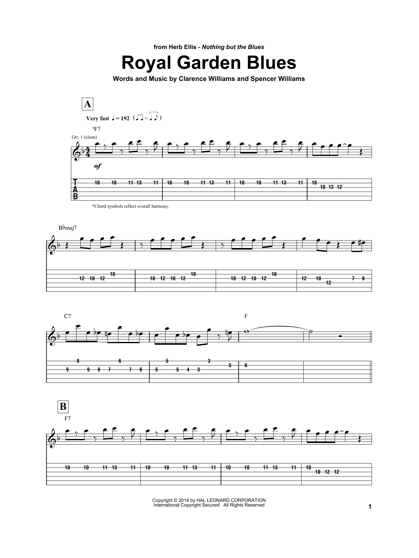 Royal Garden Blues Sheet Music