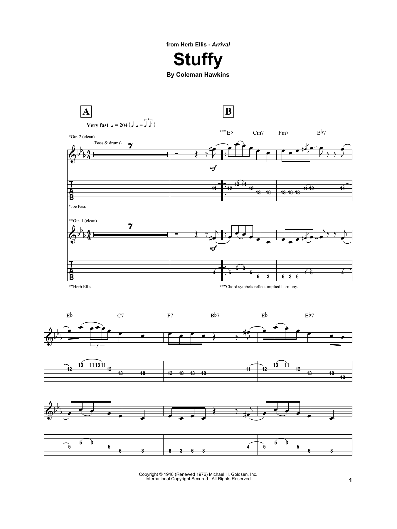 Stuffy Sheet Music