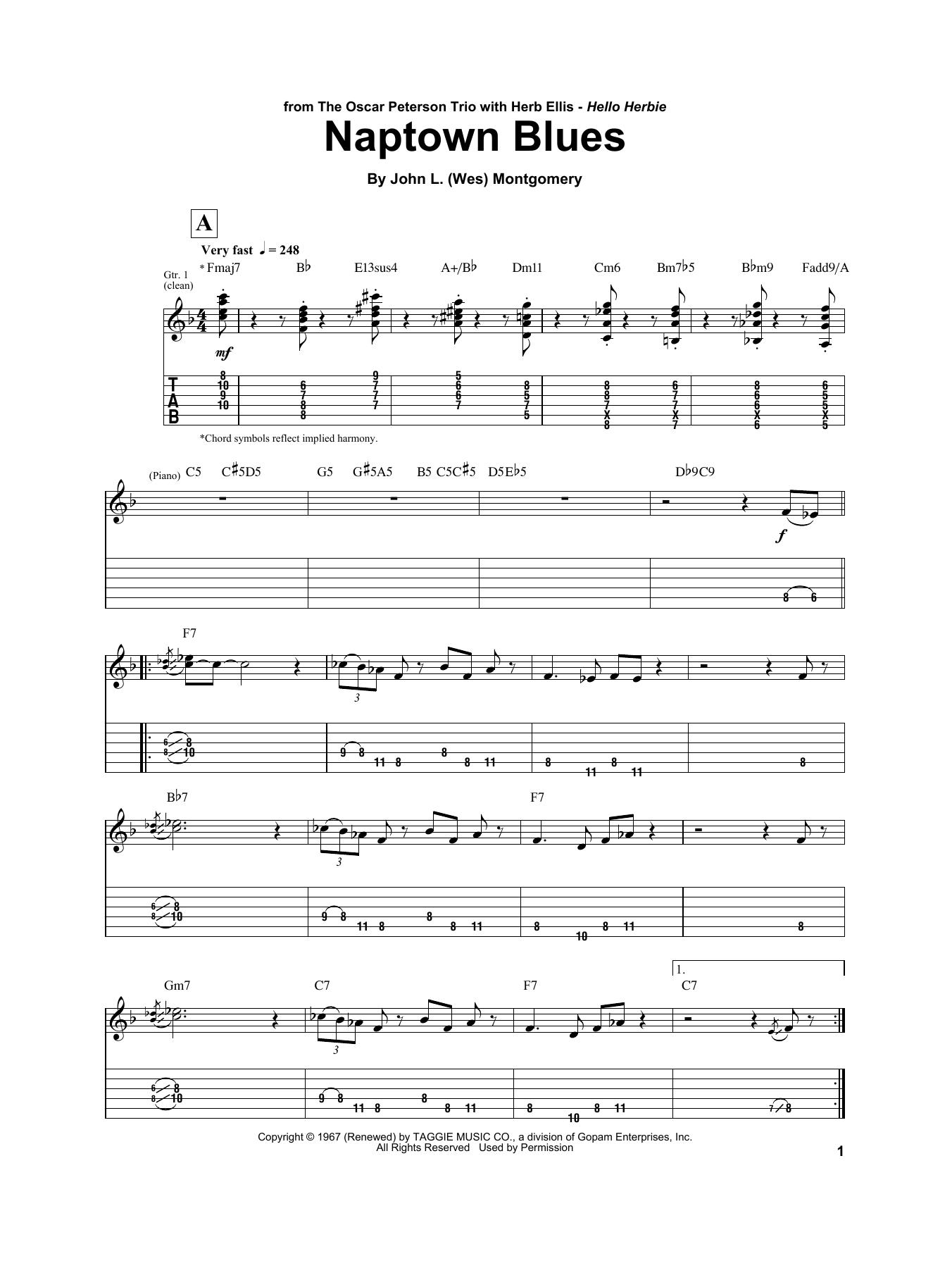 Naptown Blues Sheet Music