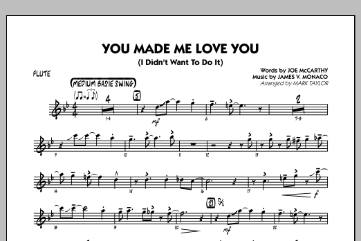 You Made Me Love You (I Didn't Want to Do It) - Flute (Jazz Ensemble)
