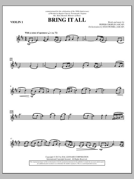 Bring It All - Violin 1 Sheet Music