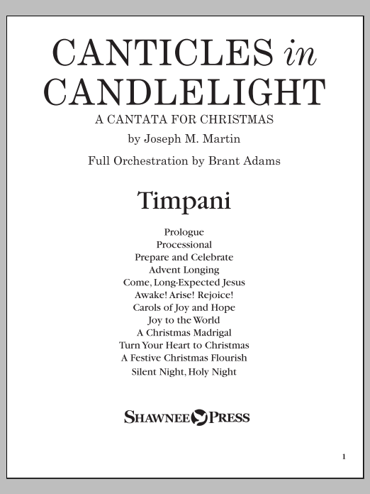 Canticles in Candlelight - Timpani Sheet Music