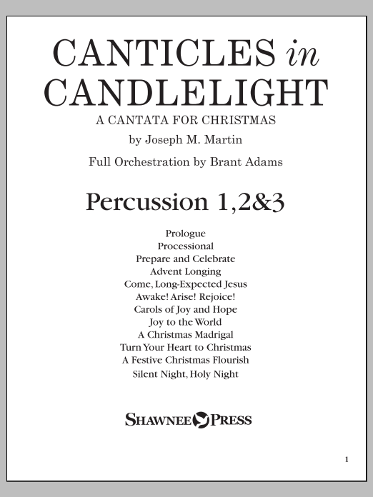 Canticles in Candlelight - Percussion 1,2,3 Sheet Music