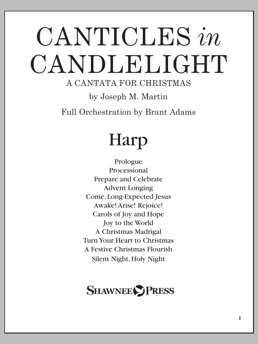 Canticles in Candlelight - Harp Sheet Music