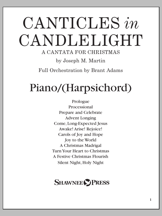 Canticles in Candlelight - Piano or Harpsichord Sheet Music