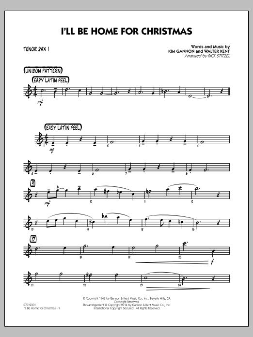 I'll Be Home for Christmas - Tenor Sax 1 (Jazz Ensemble)