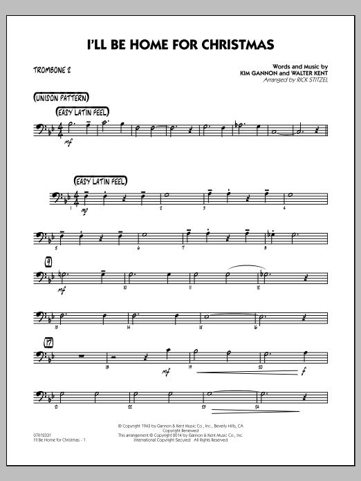 I'll Be Home for Christmas - Trombone 2 (Jazz Ensemble)