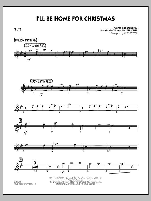 I'll Be Home for Christmas - Flute (Jazz Ensemble)