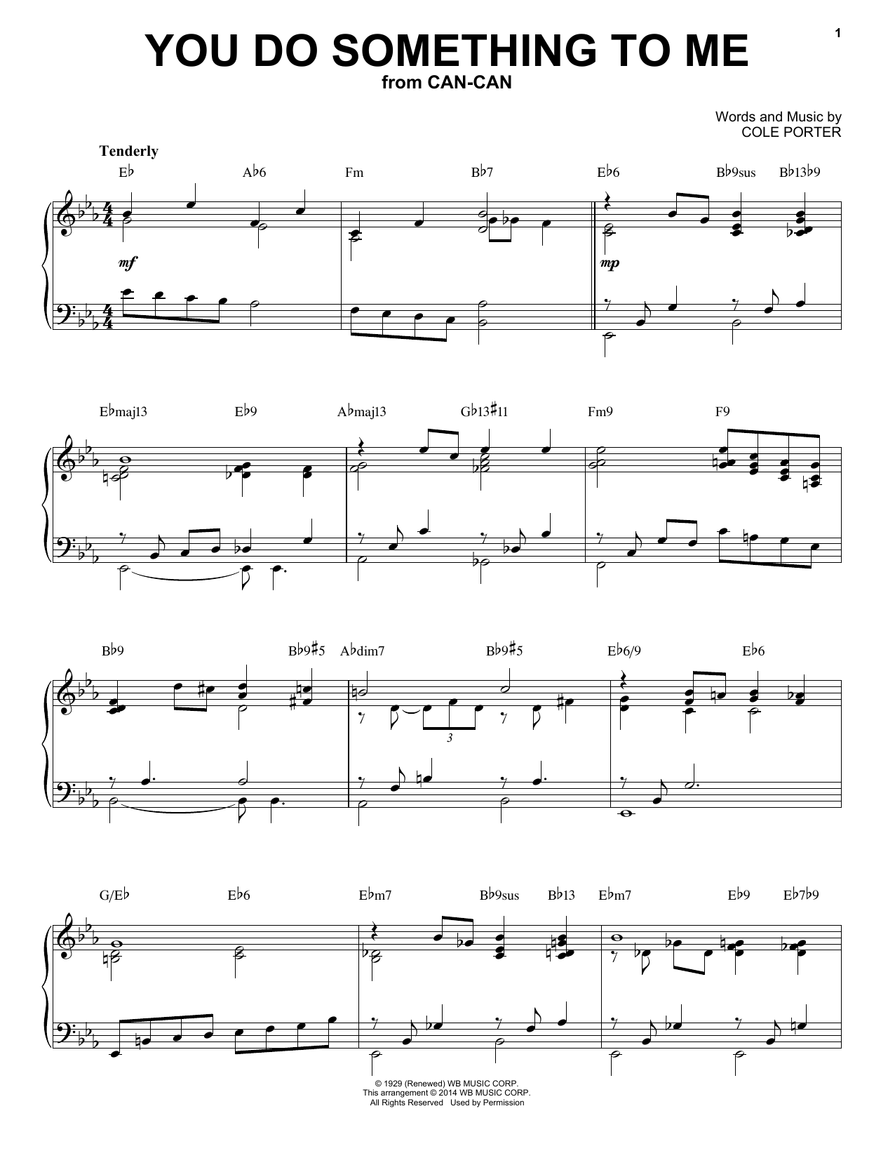 You Do Something To Me [Jazz version] (arr. Brent Edstrom) (Piano Solo)