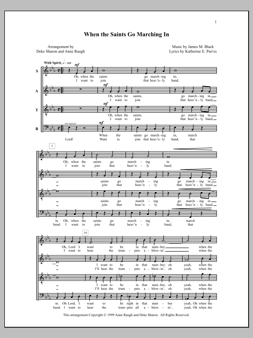 When the Saints Go Marching In (SATB Choir)