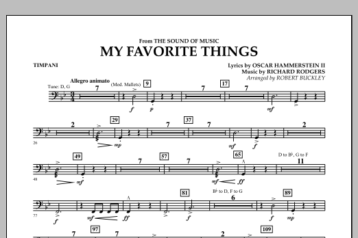 My Favorite Things (from The Sound of Music) - Timpani (Flex-Band)