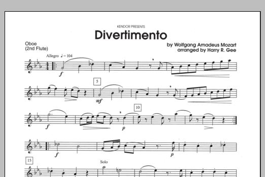 Divertimento - Oboe Sheet Music
