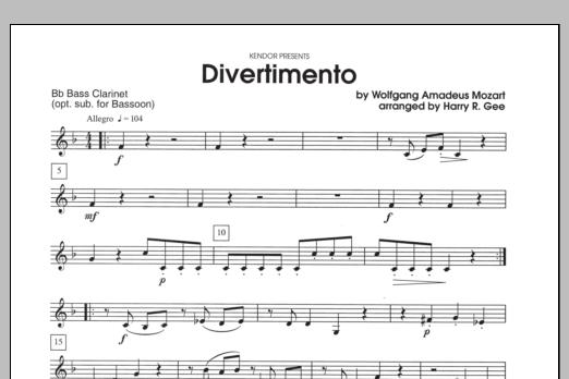 Divertimento - Bb Bass Clarinet Sheet Music