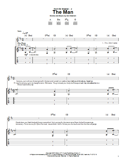The Man (Guitar Tab)