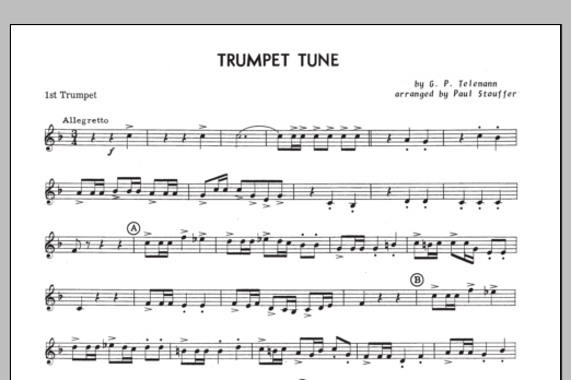 Trumpet Tune - 1st Trumpet in Bb Sheet Music