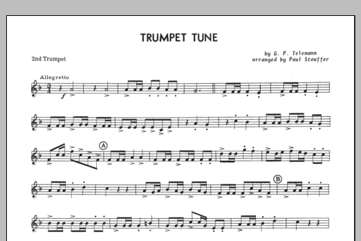 Trumpet Tune - 2nd Trumpet in Bb Sheet Music