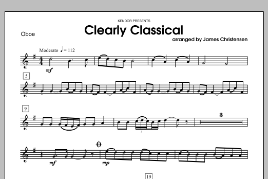 Clearly Classical - Oboe Sheet Music