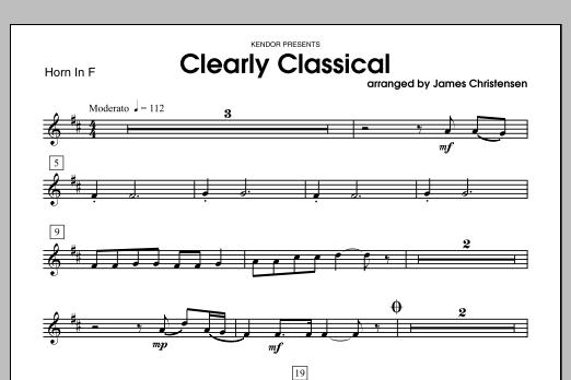 Clearly Classical - Horn in F Sheet Music