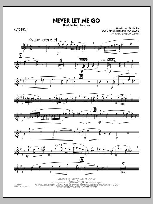 Never Let Me Go (Flexible Solo Feature) - Alto Sax 1 (Jazz Ensemble)