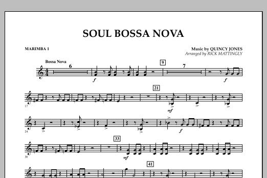Soul Bossa Nova - Marimba 1 (Concert Band)