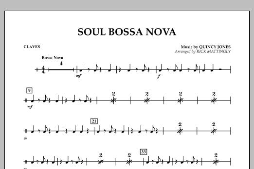 Soul Bossa Nova - Claves (Concert Band)