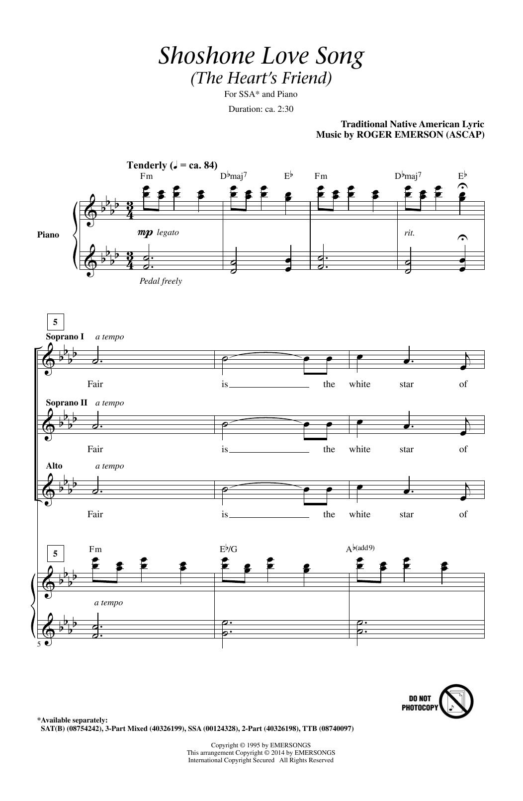 Shoshone Love Song (The Heart's Friend) (SSA Choir)