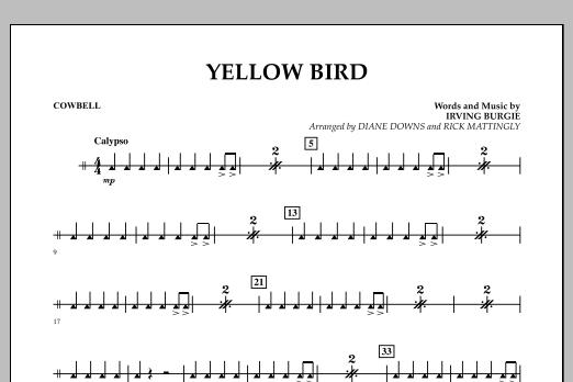 Yellow Bird - Cowbell (Concert Band)