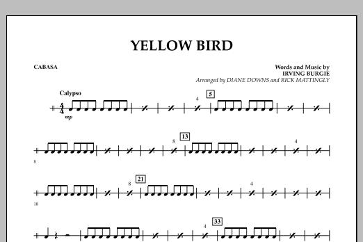 Yellow Bird - Cabasa (Concert Band)