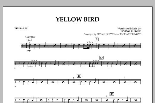 Yellow Bird - Timbales (Concert Band)