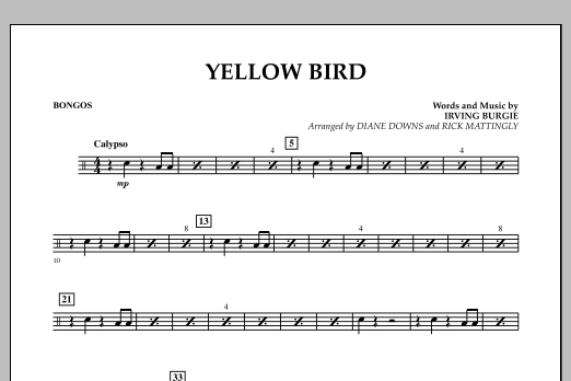 Yellow Bird - Bongos (Concert Band)