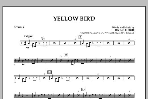 Yellow Bird - Congas (Concert Band)