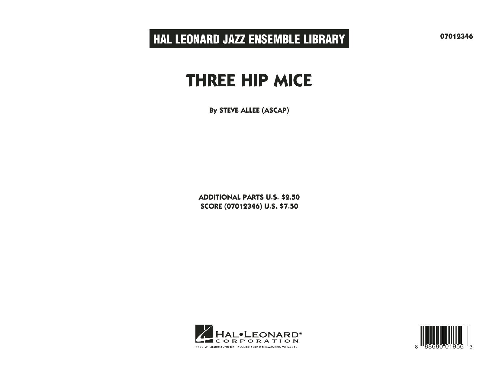 Three Hip Mice - Conductor Score (Full Score) (Jazz Ensemble)