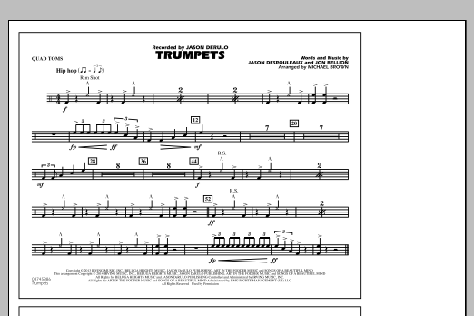 Trumpets - Quad Toms (Marching Band)