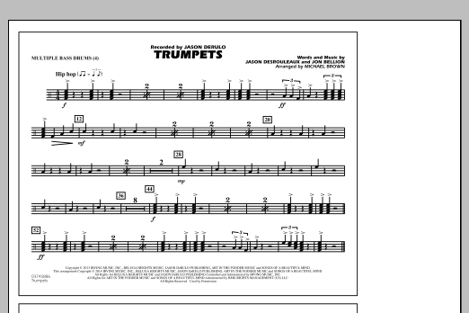 Trumpets - Multiple Bass Drums (Marching Band)