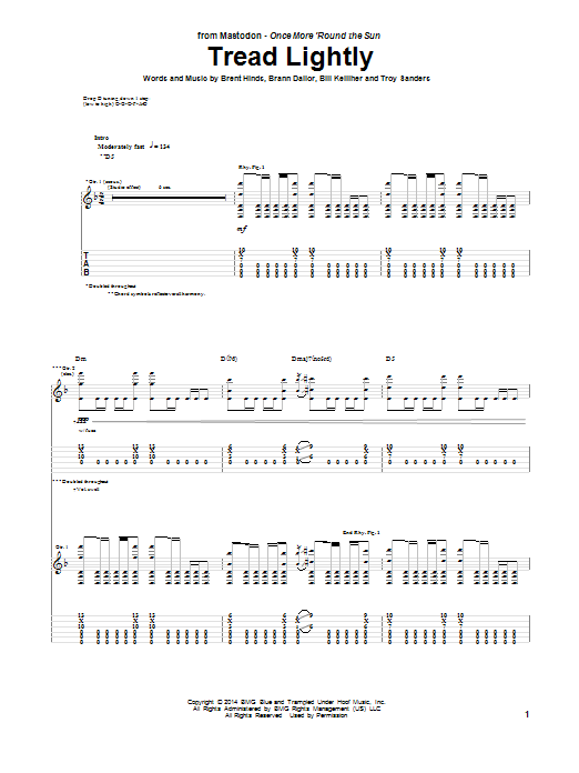 Tablature guitare Tread Lightly de Mastodon - Tablature Guitare