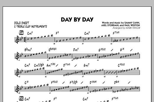 Day by Day - C Solo Sheet (Jazz Ensemble)