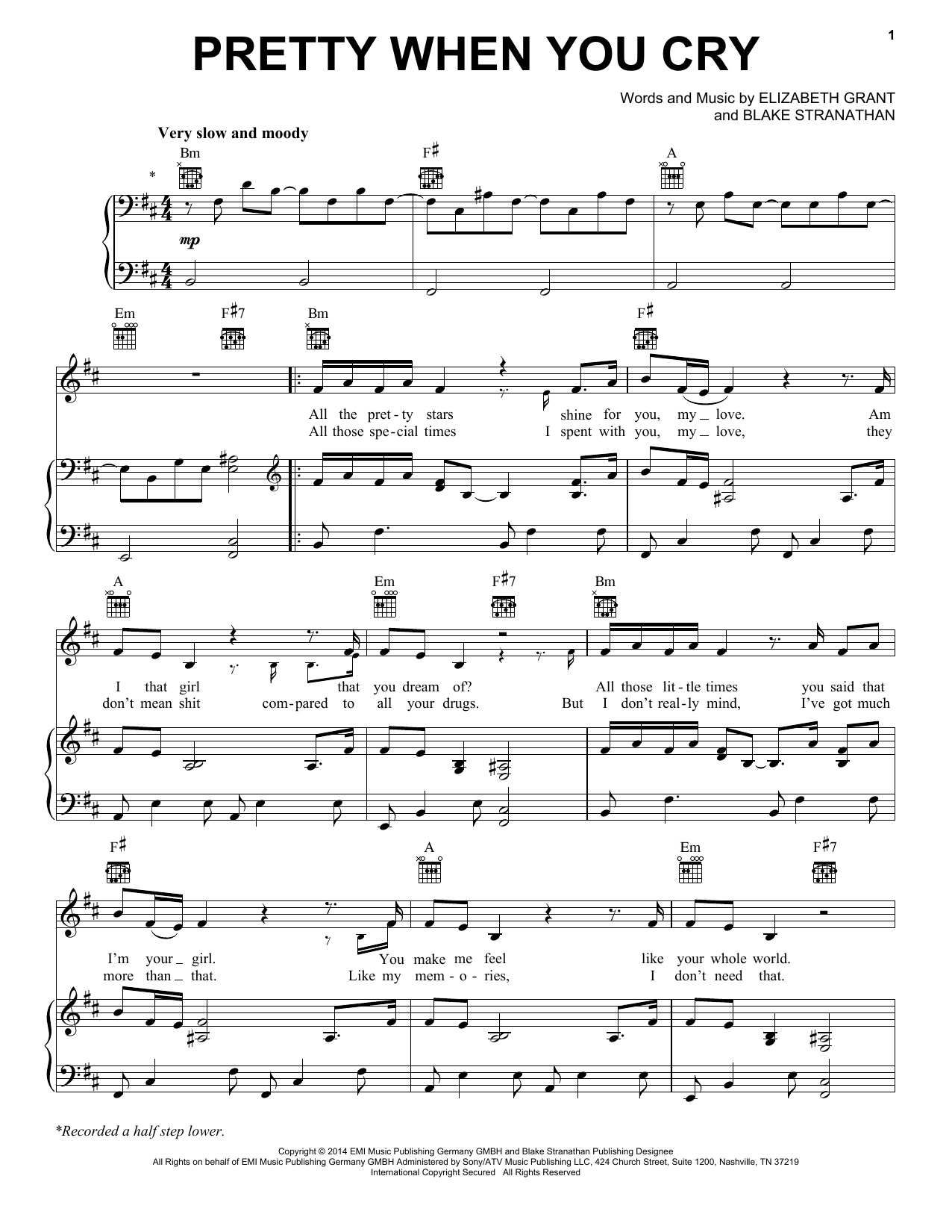 Pretty When You Cry Sheet Music