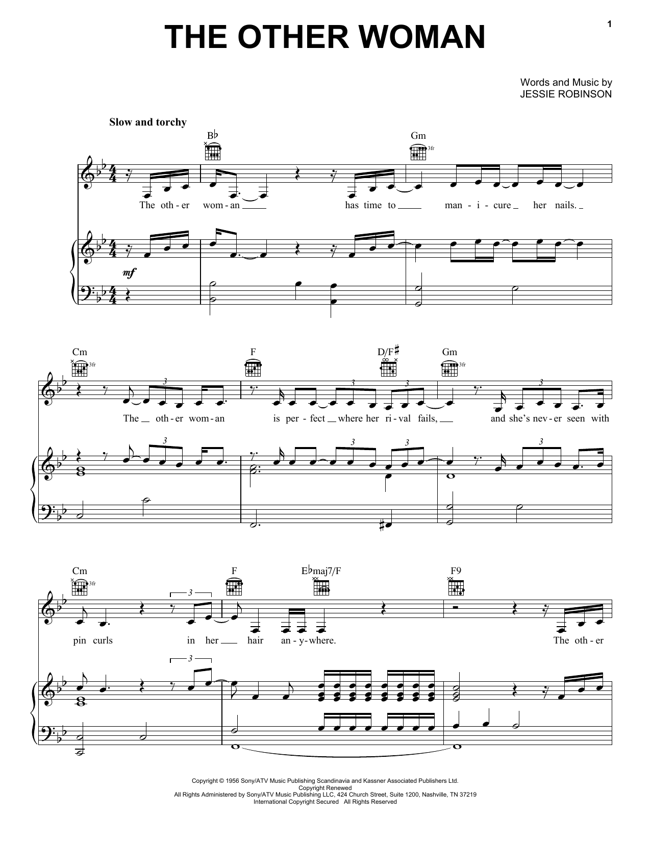 The Other Woman Sheet Music
