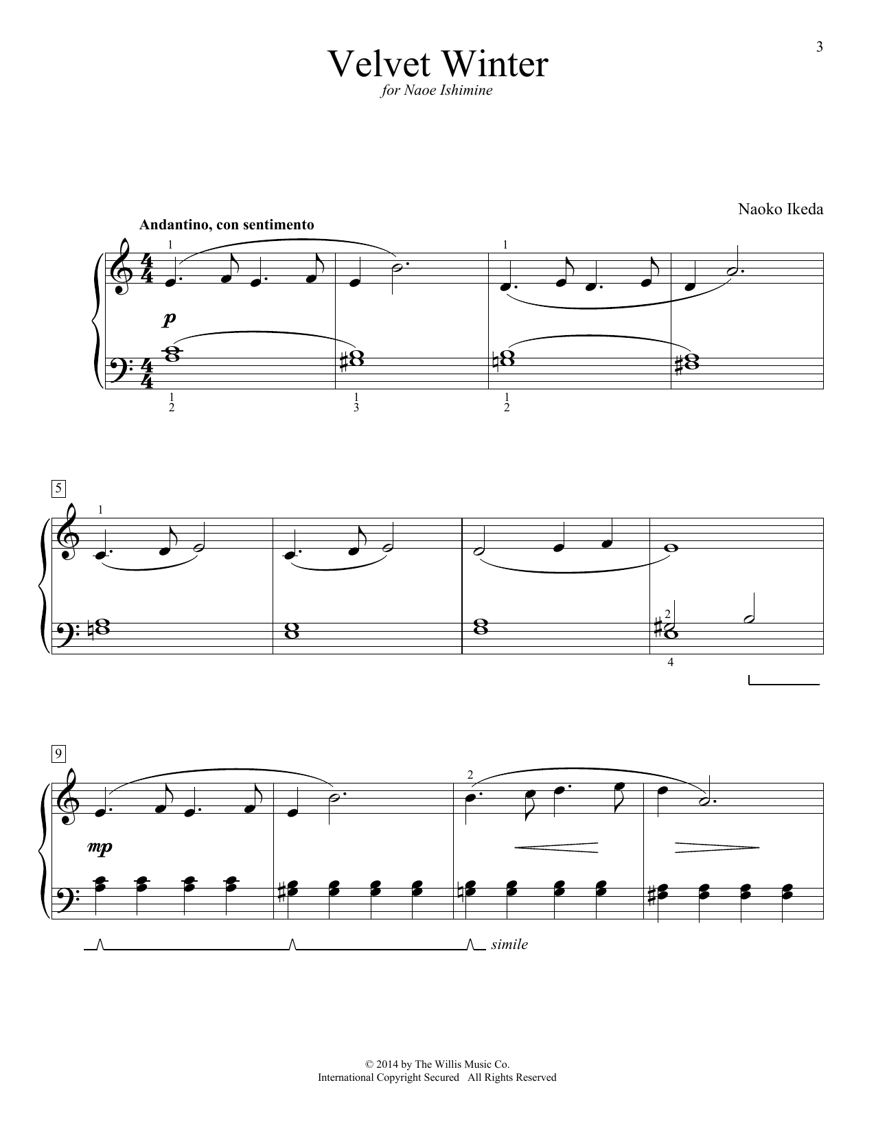 Velvet Winter Sheet Music