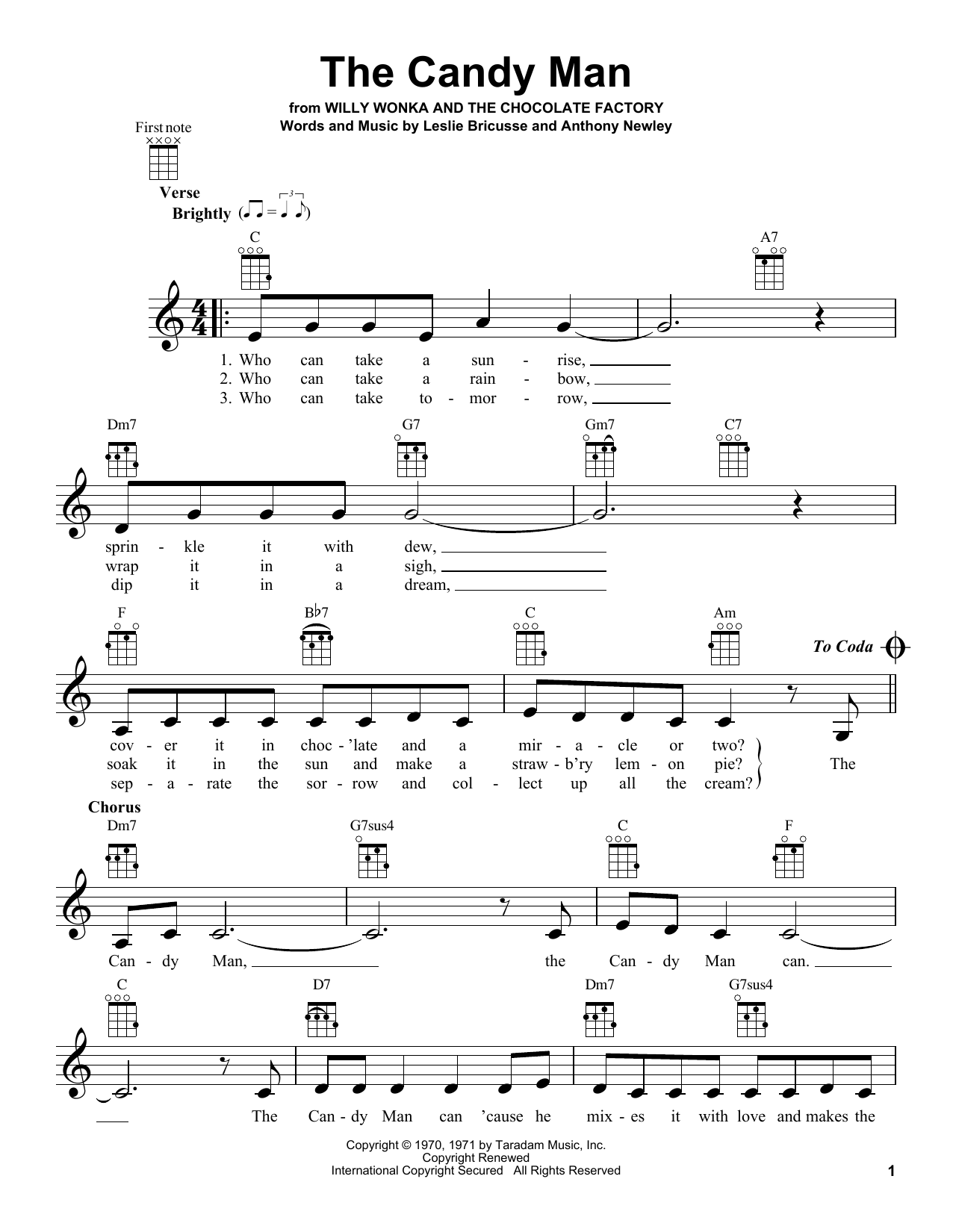 The Candy Man Sheet Music