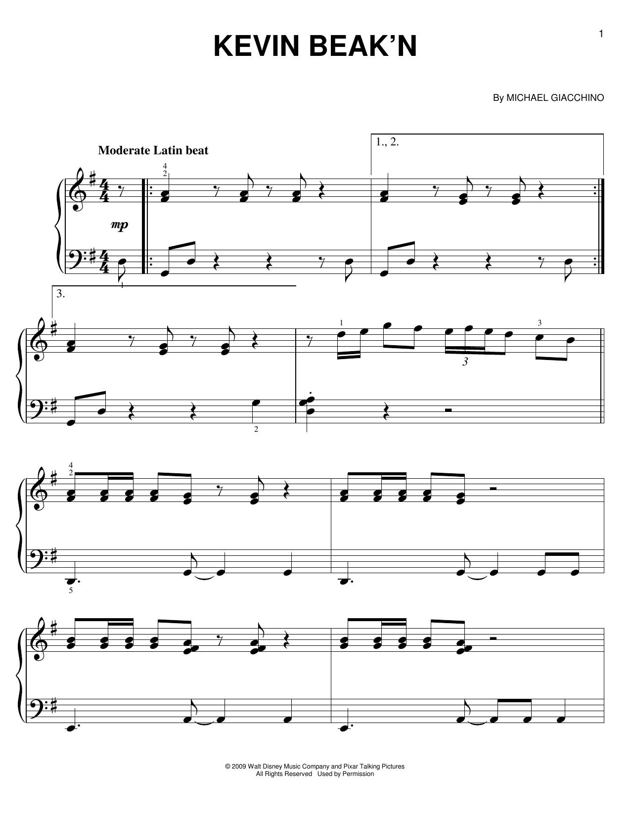 Kevin Beak'n Sheet Music